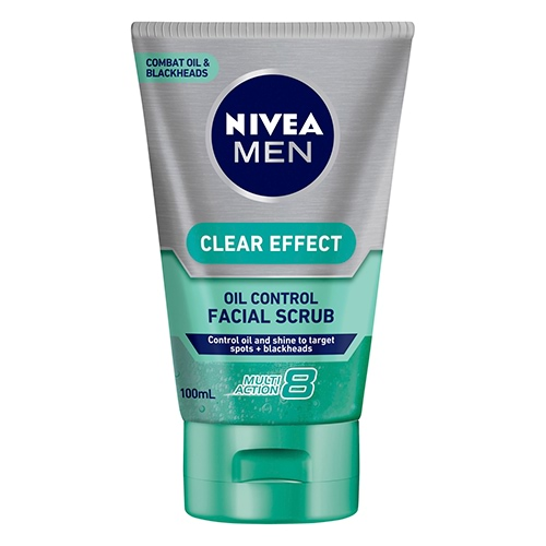 Image for Nivea Men Clear Effect Oil Control Facial Scrub - 100mL from DDS