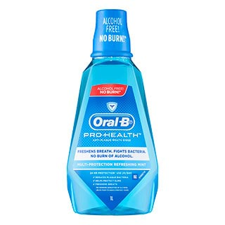 Image for Oral-B Pro-Health Alcohol Free Rinse Refreshing Mint - 1L from DDS