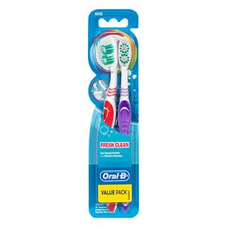 Image for Oral-B Fresh Clean Medium - 2 Pack from DDS