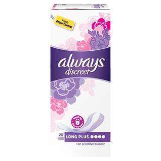 Image for Always Discreet Long Plus Liners - 20 Pack from DDS