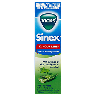 Image for Vicks Sinex Aloe Nasal Spray - 15mL from DDS