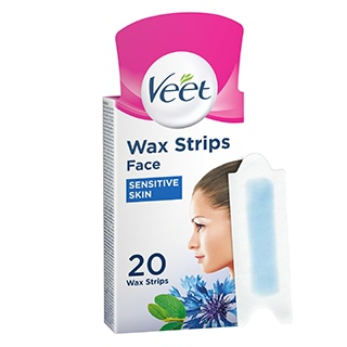 Image for Veet Face Precision Wax Strips Sensitive Skin 20 Pack from DDS