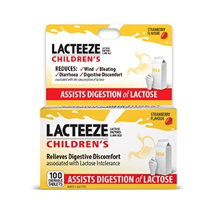 Image for Lacteeze Children's Strength Chewable - 100 Tablets from DDS