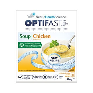 Image for Optifast VLCD Chicken Flavour Soup - 8 Pack from DDS