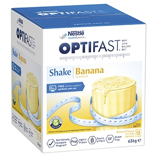 Image for Optifast VLCD Banana Shake - 12 x 53g Sachets from DDS