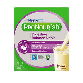 Image for ProNourish Digestive Balance Vanilla 40g - 7 Sachets from DDS