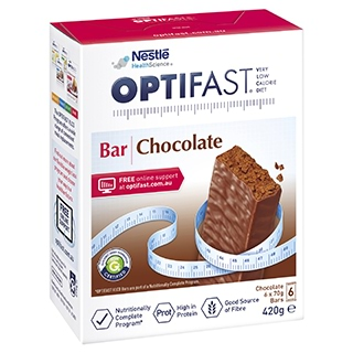 Image for Optifast VLCD Bars Chocolate - 6 Pack from DDS