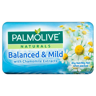 Image for Palmolive Naturals Balanced & Mild Chamomile Soap 90g - 4 Pack from DDS