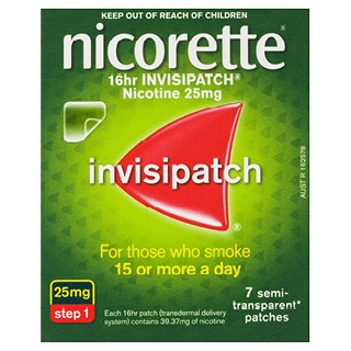 Image for Nicorette 16 hour Invisipatch 25mg Step - 7 Pack from DDS