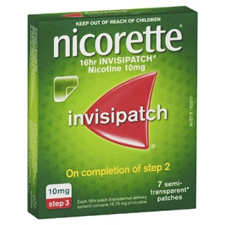 Image for Nicorette 16 hour Invisipatch 10mg Step 3 - 7 Pack from DDS