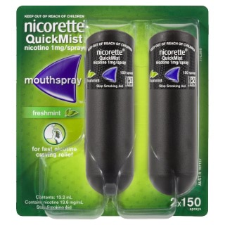 Image for Nicorette Quickmist Spray 150 Sprays - 2 Pack from DDS