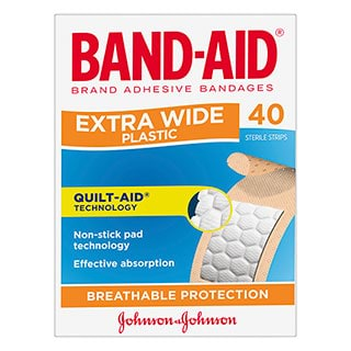 Image for Band-Aid Extra Wide Strips - 40 Pack from DDS