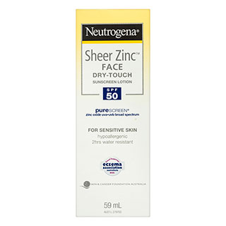 Image for Neutrogena Sheer Zinc Face Dry-Touch SPF50 Sunscreen - 59mL from DDS