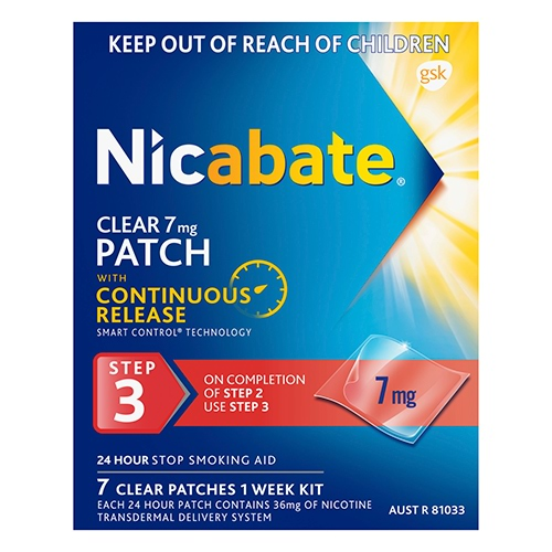Image for Nicabate Clear Patch 7 Mg Step 3 - 7 Pack from DDS