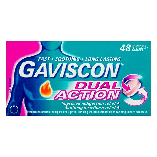 Image for Gaviscon Dual Action Tablets - 48 Pack from DDS