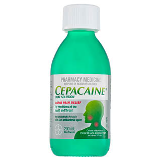 Image for Cepacaine Mouthwash Liquid 200mL from DDS