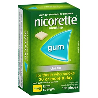 Image for Nicorette Gum 4mg Classic - 105 Pack from DDS