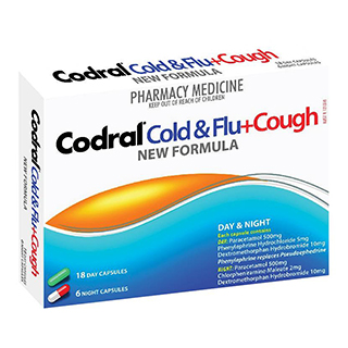 Image for Codral PE Cold & Flu Cough - 24 Capsules from DDS