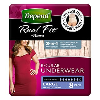 Image for Depend Underwear for Women Large - 8 Pack from DDS
