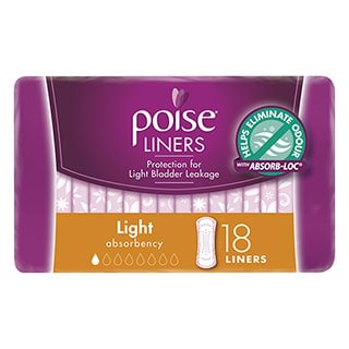 Image for Poise Liners Light - 18 Pack from DDS