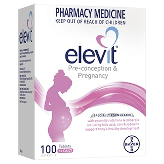 Image for Elevit Pregnancy Multivitamin Tablets 100 Pack (100 Days) from DDS