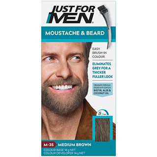 Image for Just for Men Brush-In Colour Gel Moustache & Beard - Medium Brown from DDS