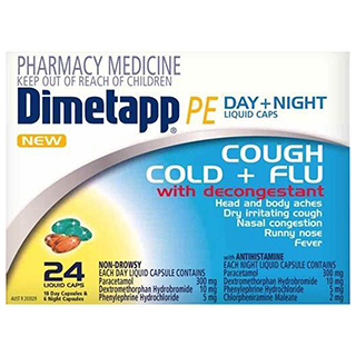 Image for Dimetapp Pe Day & Night - 24 Liquid Capsules from DDS