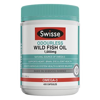 Image for Swisse Ultiboost Odorless Fish Oil - 400 Capsules from DDS