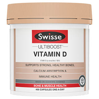 Image for Swisse Ultiboost Vitamin D - 400 Capsules from DDS