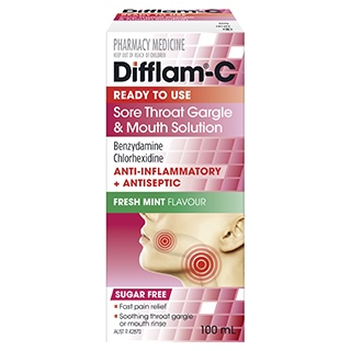 Image for Difflam-C Anti-Inflammatory Antiseptic Gargle Solution - 100ml from DDS