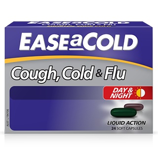 Image for EASEaCOLD Cough Day & Night - 24 Capsules from DDS