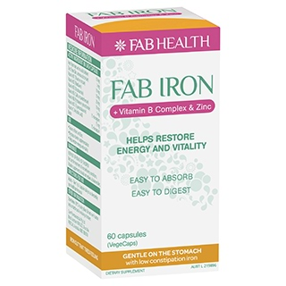 Image for Fab Iron + B Complex + Zinc - 60 Capsules from DDS