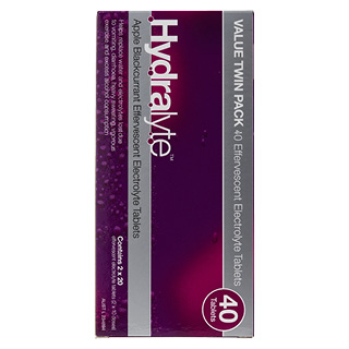 Image for Hydralyte Apple/Blackcurrant Effervescent Electrolyte-  40 Tablets from DDS