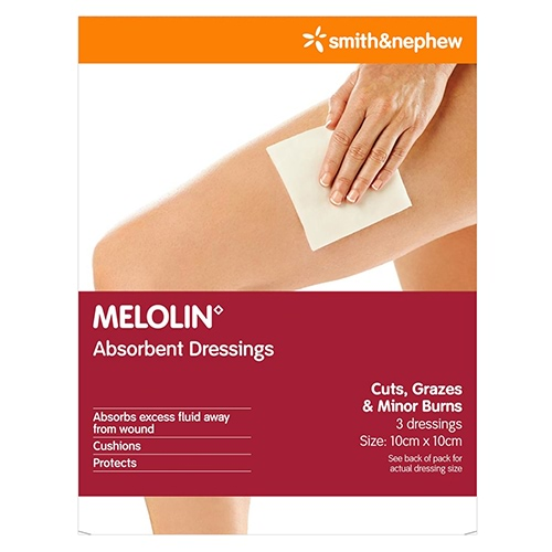Image for Melolin Low Adherent Dressings 10cm x 10cm - 3 Pack from DDS