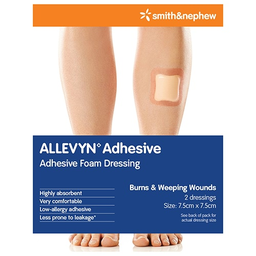 Image for Allevyn Adhesive 7. 5cm X 7. 5cm - 2 Pack from DDS