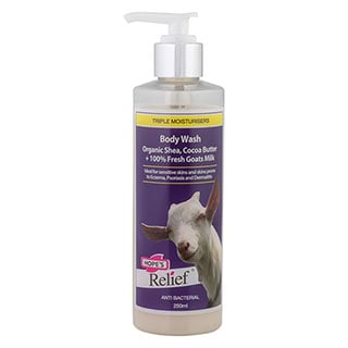 Image for Hope's Relief Body Wash with Shea, Cocoa Butter, Goats Milk - 250mL from DDS