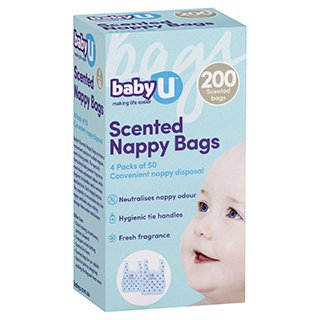 Image for Baby U Nappy Sacks - 200 Pack from DDS