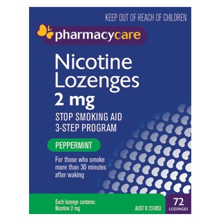 Image for Pharmacy Care Nicotine Lozenges 2 mg Peppermint - 72 Pack from DDS