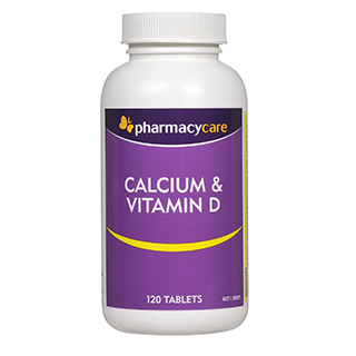 Image for Pharmacy Care Calcium & Vitamin D - 120 Tablets from DDS