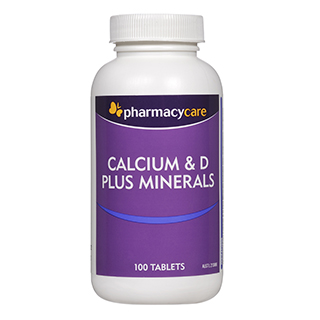Image for Pharmacy Care Calcium & D Plus Minerals -100 Tablets from DDS