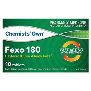 Image for Chemists Own Fexo 180mg - 10 Tabs from DDS