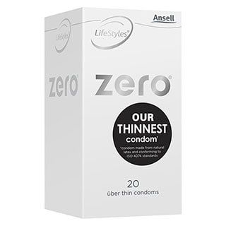 Image for Ansell Lifestyles Zero Condoms - 20 Pack from DDS